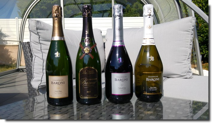cuvées champagne Baroni