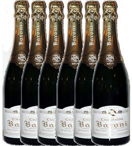Champagne Baroni 6 brut Esprit Tradition pack capsules collection