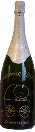 Magnum Champagne Baroni gravure Welcom