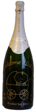 Magnum gravure welcome Champagne Baroni